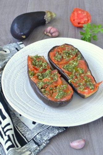Des aubergines roties à basse température