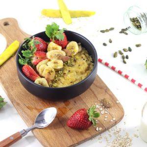 porridge mangue fraise