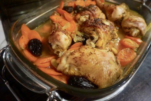 un poulet au miel et à la vapeur