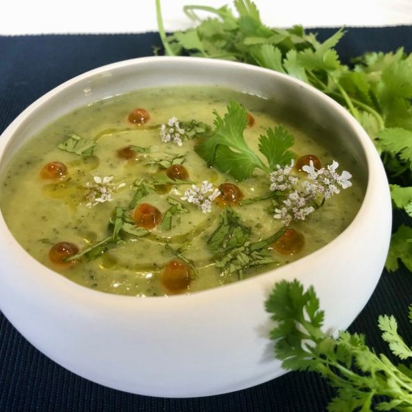 Une soupe de courgette à la vapeur