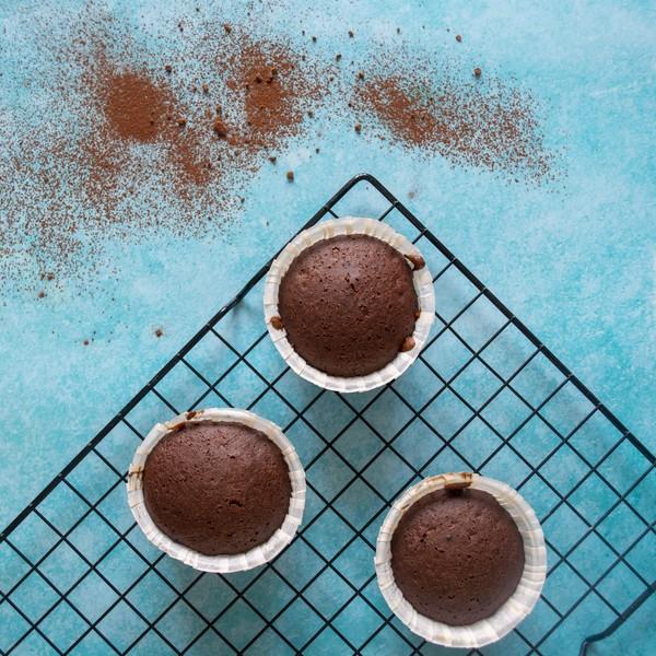 De smuffins au chocolat avec un four basse temperature
