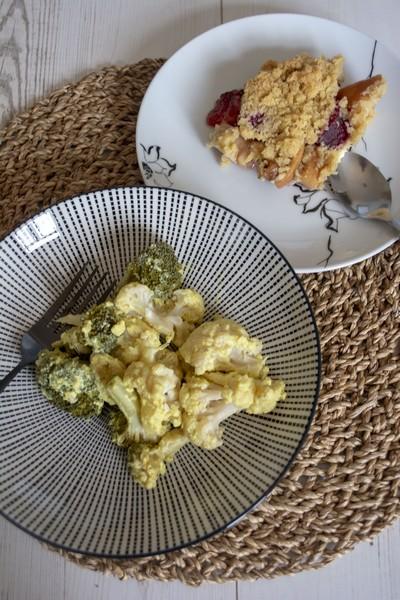 Un curry et un crumble à l'omnicuiseur