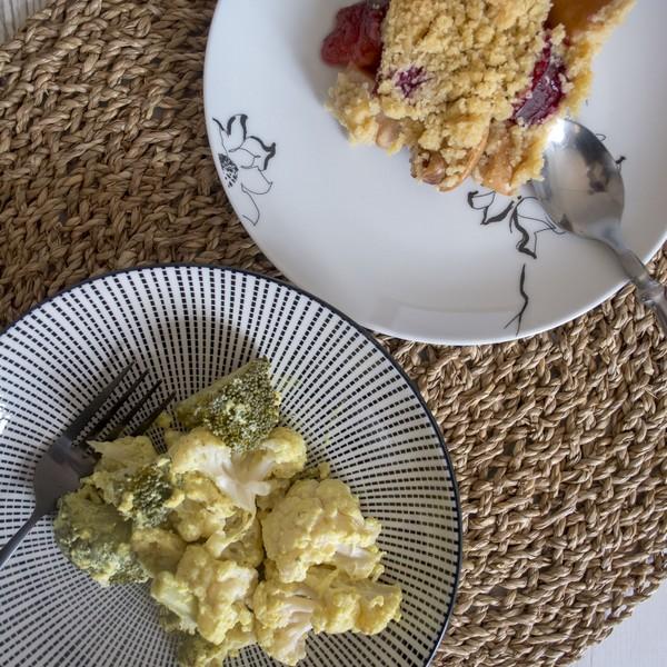 Un plat et un dessert cuits simultanément
