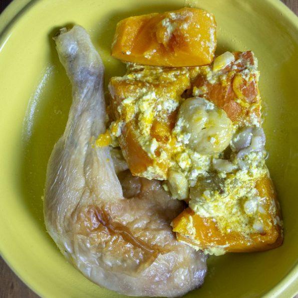 Un poulet à la vapeur
