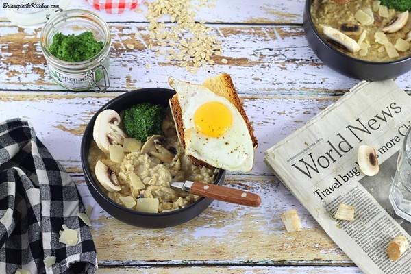 Le porridge salé à la vapeur