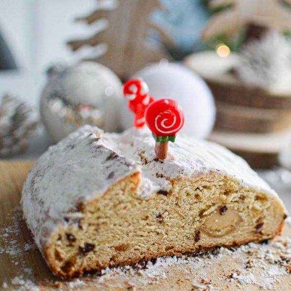 Un dessert de Noël de Stollen