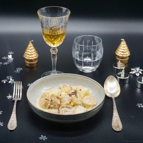 Un repas de Noël avec du boudin
