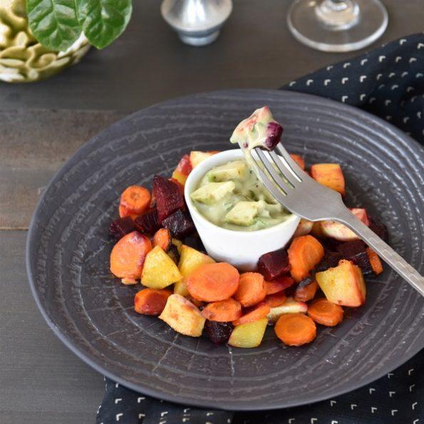 Des légumes rôtis aux infrarouges