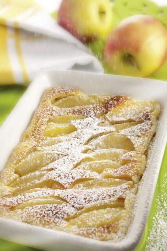 Clafoutis aux pommes à la vapeur douce