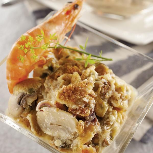 Le gratin de fruits de mer à l'omnicuiseur