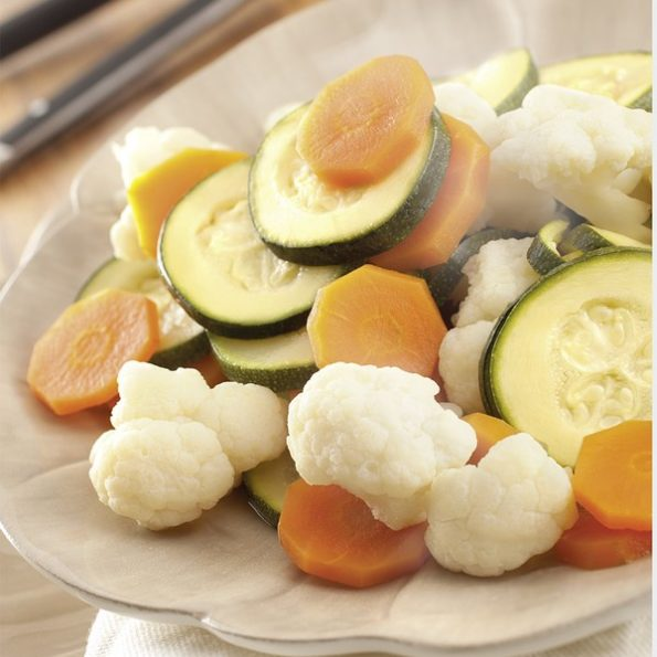 Des légumes al dente à la vapeur