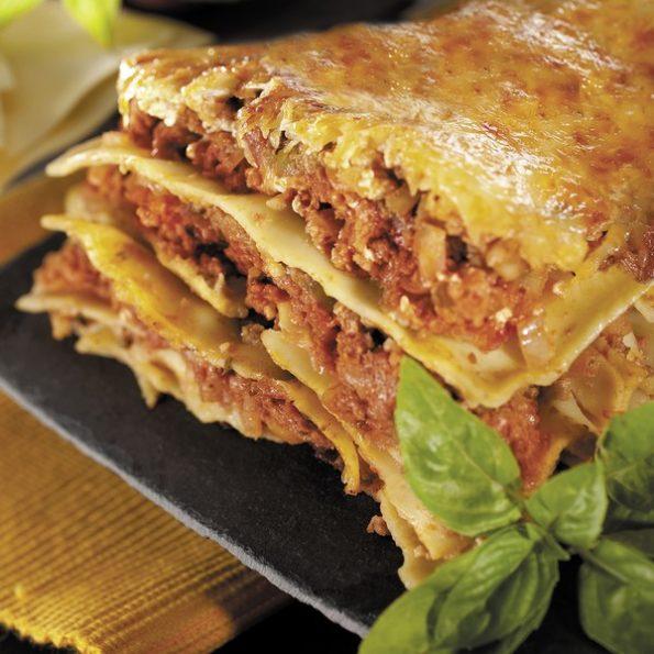Les lasagnes à la cuisson vapeur douce
