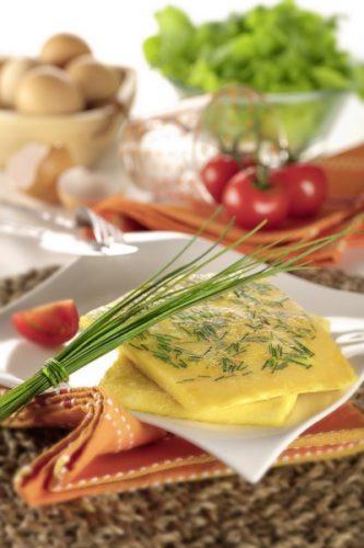 Une omelette à la vapeur