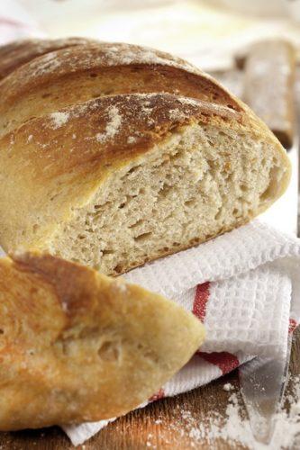 Un pain cuit à basse température
