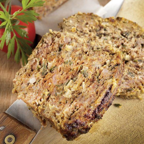Un pain de viande cuit à basse température