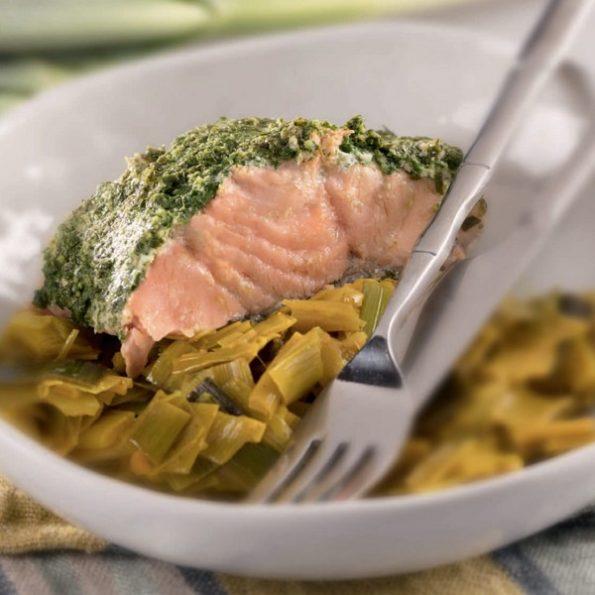 saumon poireaux cuisson vapeur douce