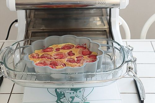 recette flan pistache fraises cuisson douce