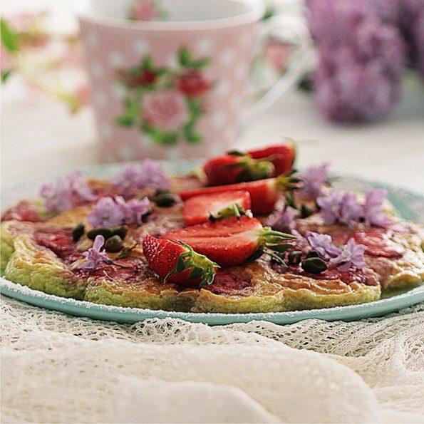recette flan pistache fraises omnicuiseur
