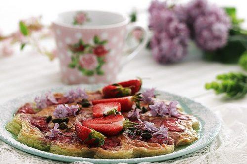 recette flan pistache fraises vapeur douce