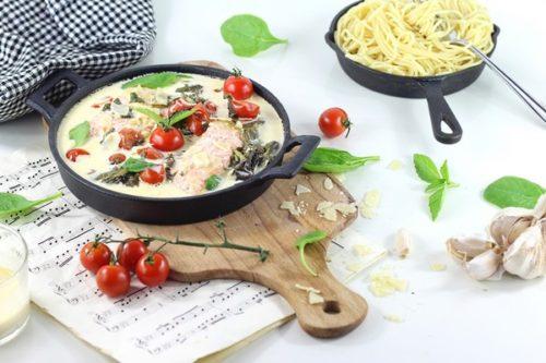 recette paves saumon toscane cuisson douce