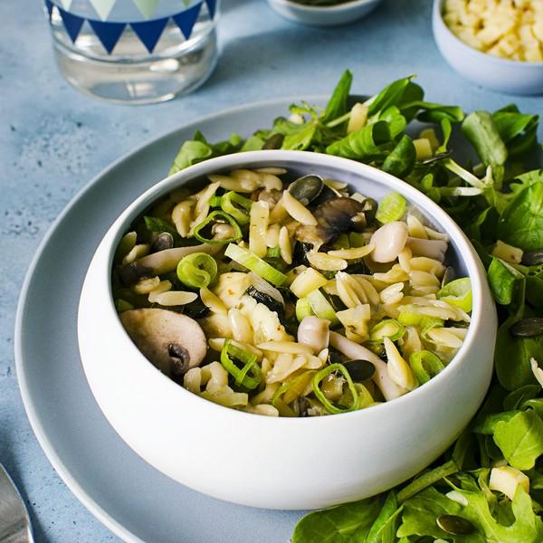 pates champignons cuisson douce